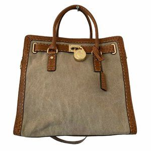 Michael Kors Tote Hamilton Canvas and Leather Tote